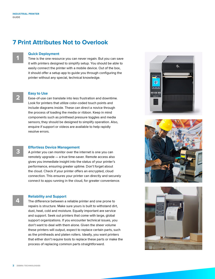 7 Things To Consider When Buying An Industrial Printer by Zebra